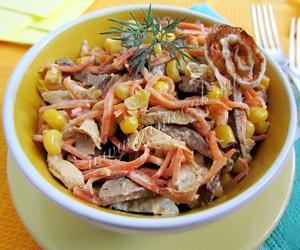 рецепты вкусных салатов из свиной печени