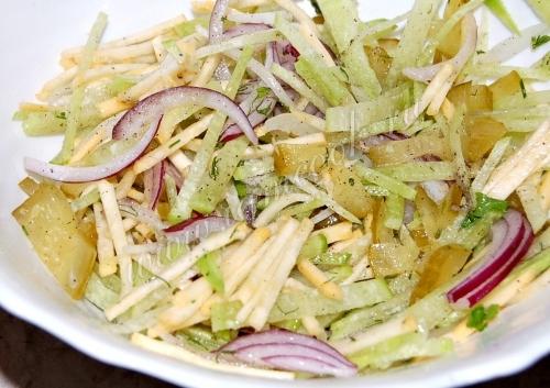 салат из сырой репы рецепты